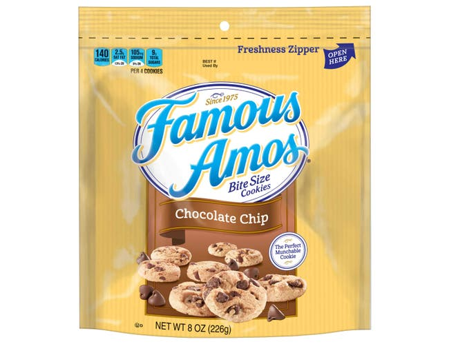 Famous Amos Chocolate Chip Bite Size Cookie, 8 Ounce -- 6 per case.