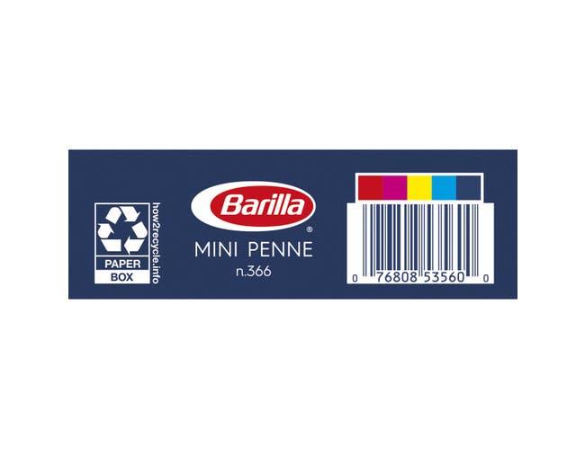 Barilla Semolina Mini Penne Pasta, 16 Ounce -- 12 per case.