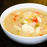Blount Chicken Spaetzle Soup, 4 Pound -- 4 per case.