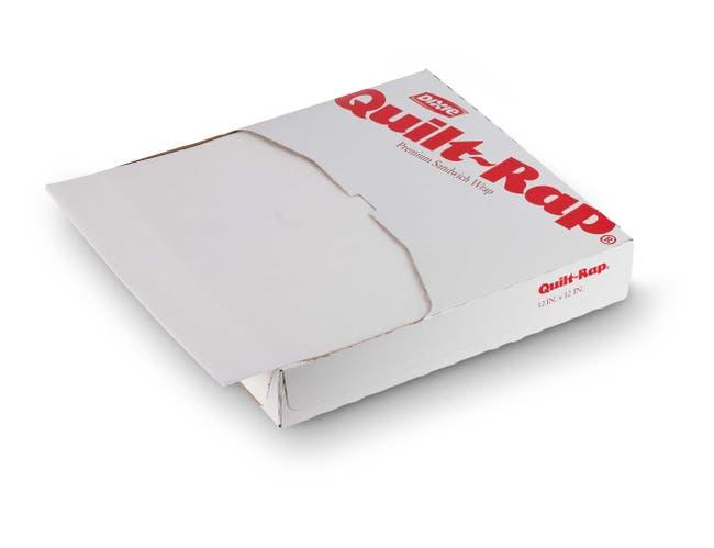 Quik Rap White Insulated Sandwich Wrap, 14 x 16 inch -- 1000 per case.