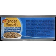 9 Lives Tender Morsels with Ocean White Fish Tuna and Cheese Wet Cat Food, 5.5 Ounce -- 24 per case.