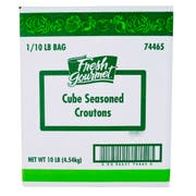 Sugar Foods Fresh Gourmet Seasoned Crouton Cube, 10 Pound -- 1 each.