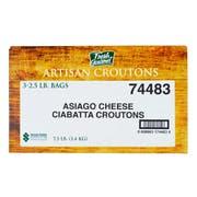 Fresh Gourmet Asiago Cheese Ciabatta Crouton, 2.5 Pound -- 3 per case.