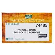 Fresh Gourmet Tuscan Herb Focaccia Crouton, 2.5 Pound -- 3 per case.