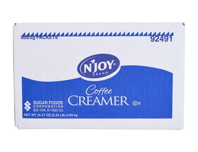 Njoy Non Dairy Creamer -- 500 per case.