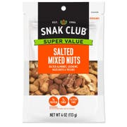 Century Snacks Snak Club Salted Mixed Nuts, 4 Ounce Bag -- 6 per case