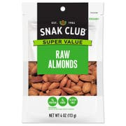 Century Snacks Snak Club Super Value Raw Almonds, 4 Ounce -- 6 per case