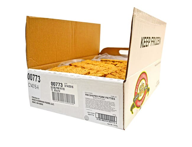 Kings Command Foods Cooked Pork Sausage Patty, 2 Ounce -- 120 per case.