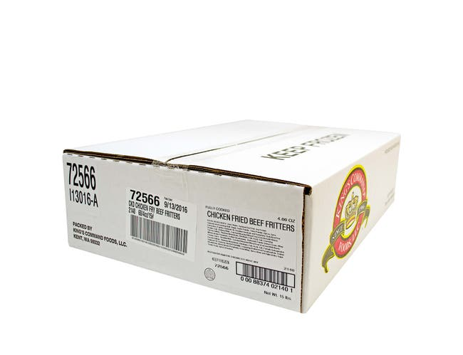 Kings Command Foods Cooked Chicken Fried Beef Patty, 4 Ounce -- 60 per case.