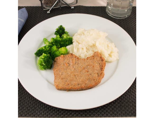 Kings Command Fully Cooked Pork Chop Patties, 3.5 Ounce -- 69 per case.