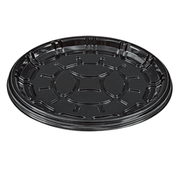 PartiPak PETE Black Round Everyday Tray, 12 inch -- 50 per case.