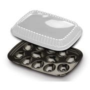 D and W Fine Pack Pet Black 12 Egg Tray with Dome Lid -- 328 per case.