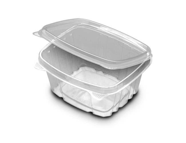 Versapak Grab N Go Rigid Hinged Container, 16 Ounce -- 200 per case.