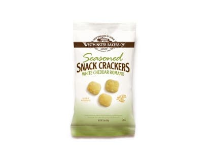 Westminster Bakers Cheddar Romano Snack Cracker, 1.5 Ounce -- 36 per case.