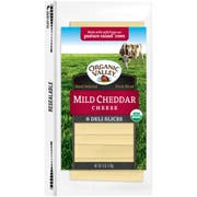 Organic Valley Mild Cheddar Slices, 6 Ounce -- 12 per case