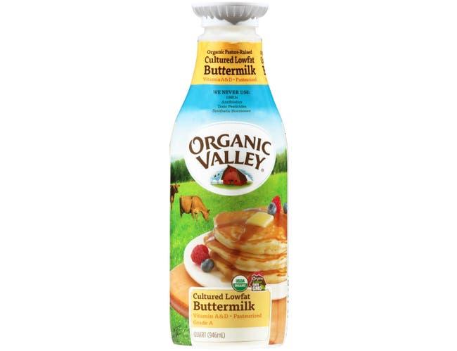 Organic Valley Pasteurized Lowfat Butter Milk, 32 Fluid Ounce -- 12 per case