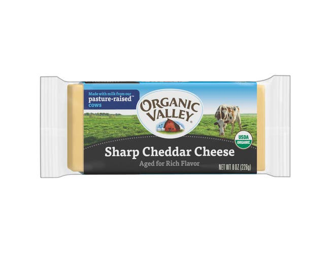 Organic Valley Organic Sharp Cheddar Cheese, 8 Ounce -- 12 per case