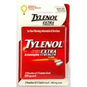 Convenience Valet Tylenol Extra Strength 4 Caplets Blister Card, 4 per unit -- 144 per case