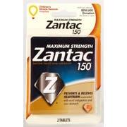 Zantac Maximum Strength 150mg Tablet, 2 per unit -- 144 per case