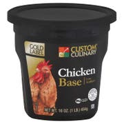 Custom Culinary Gold Label Chicken Base, 1 Pound -- 6 per case.
