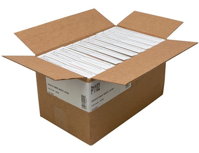 D and W Fine Pack White Boxed Knife -- 1000 per case.