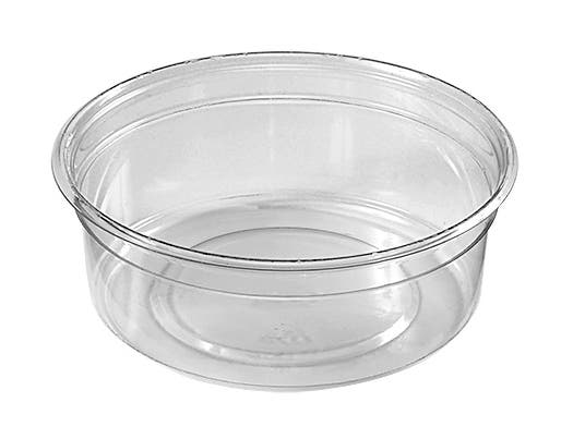 D and W Fine Pack FreshServe PET Clear Round Deli Container, 8 Ounce -- 750 per case.