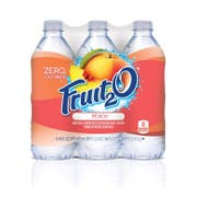 Fruit2O Natural Peach Purified Water Beverage, 16 fluid ounce -- 24 per case
