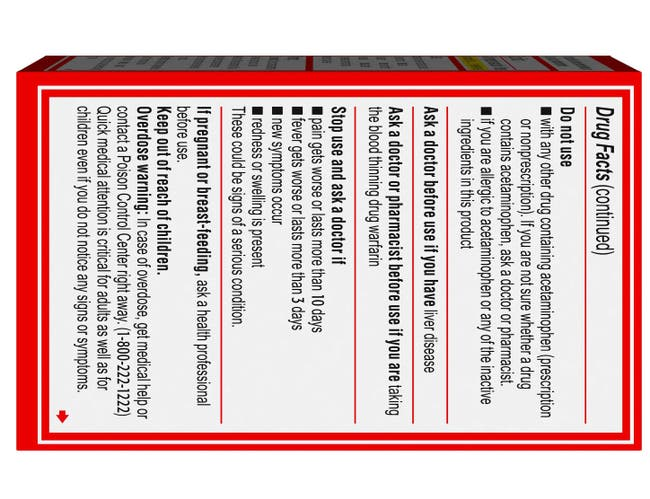 Tylenol Extra Strength Pain Relief Caplets -- 24 per case