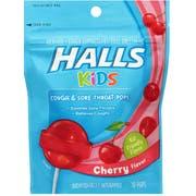 Halls Pops Cherry Cough Drop, 2.112 Ounce -- 24 per case