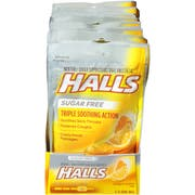 Halls Sugar Free Honey Lemon - 25 count bag, 48 per case