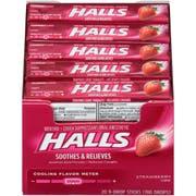 Halls Strawberry - 9 piece stick, 480 per case