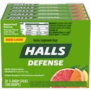 Halls Defense Assorted Citrus - 9 piece stick, 480 per case