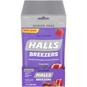 Halls Breezers Sugar-Free Cool Berry - 20 piece per bag, 48 per case