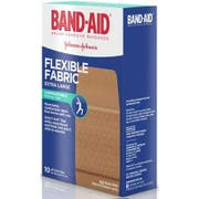 Band Aid Flexible Fabric Extra Large Adhesive Bandage, 10 count per pack -- 24 per case.