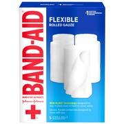Band Aid 4 inch x 2.1 Yard First Aid Flexible Rolled Gauze, 5 count per pack -- 12 per case