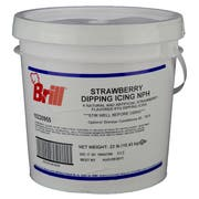 Brill Strawberry Dipping Icing, 23 Pound -- 1 each.