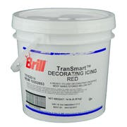 Brill Red Transmart Decorating Icing, 14 Pound Pail -- 1 each.