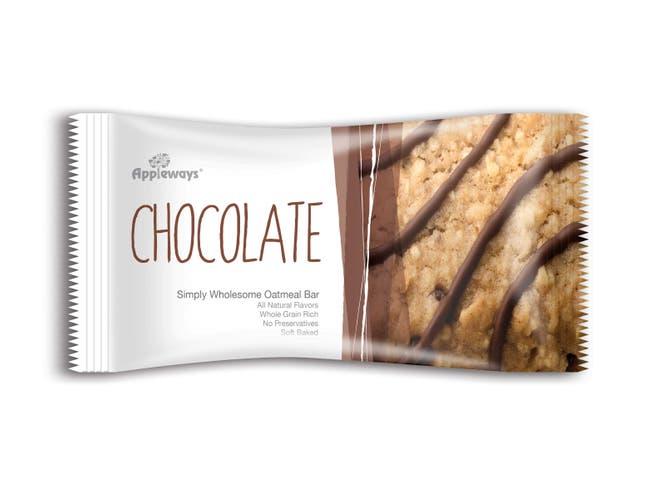Appleways Whole Grain Chocolate Chip Oatmeal Bar, 15 count per pack -- 4 per case.