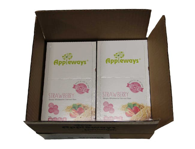 Appleways Whole Grain Strawberry Simply Wholesome Oatmeal Bar, 1.2 Ounce -- 60 per case.