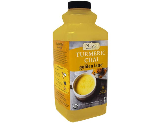 Numi Organic Turmeric Chai Tea Golden Latte Concentrate, 32 Fluid Ounce -- 6 per case.