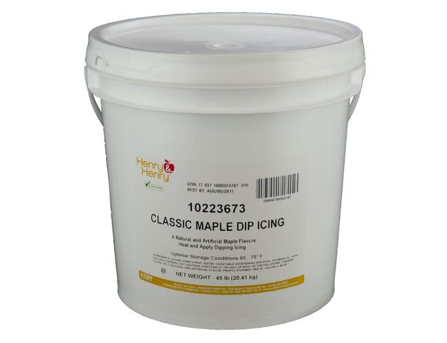 Henry and Henry Classic Maple Dip Icing, 45 Pound -- 1 each.