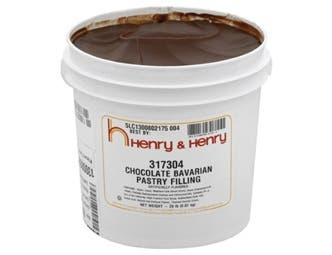 Henry and Henry Creme Style Chocolate Bavarian Pastry Filling, 20 Pound -- 1 each.