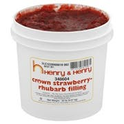 Henry and Henry Crown Strawberry Rhubarb Filling, 20 Pound -- 1 each.
