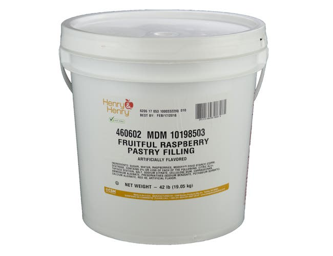 Henry and Henry Raspberry Pastry Filling, 42 Pound -- 1 each.