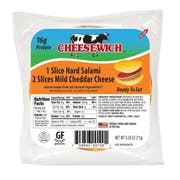 Cheesewich Cheddar and Salami, 2.5 Ounce -- 96 per case.