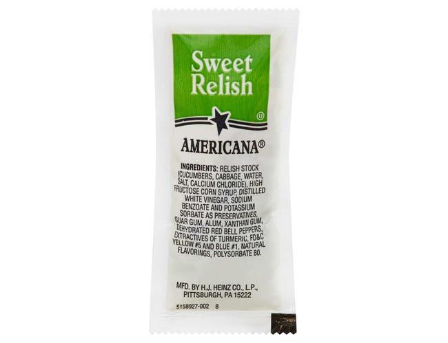 Americana Sweet Relish, 9 Gram -- 200 Count