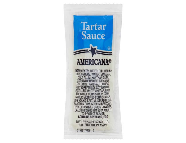 Americana Tartar Sauce, 9 Gram -- 200 Count