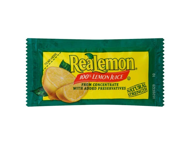 Portion Pac Realemon Juice Packet, 4 Grams -- 200 Count