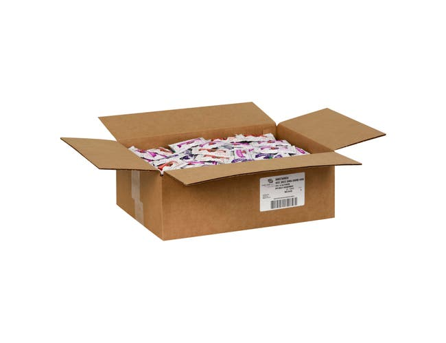 Portion Pac Strawberry, Mixed Fruit and Grape Jelly in Pouch, 0.5 Ounce -- 500 per case.