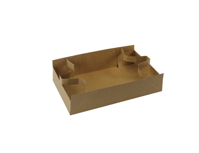 Boxit Kraft Cup Carrier, 10.875 x 6.625 x 2.625 inch -- 250 per case.